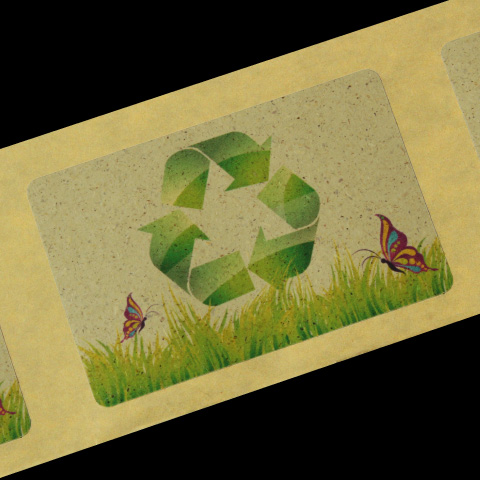 Grass paper label